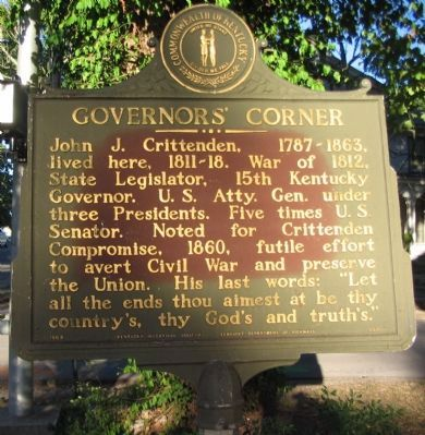 Governors' Corner Marker image. Click for full size.