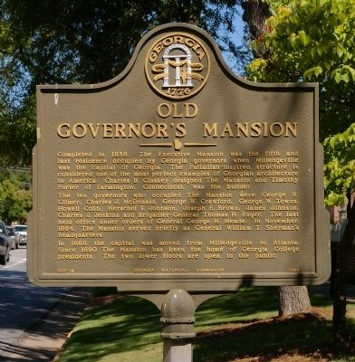 Old Governor's Mansion Marker image. Click for full size.