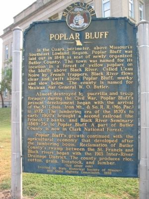 Poplar Bluff Marker image. Click for full size.