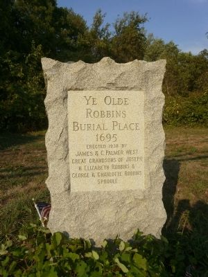 Ye Olde Robbins Burial Place Marker image. Click for full size.
