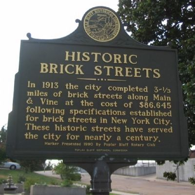 Historic Brick Streets Marker image. Click for full size.