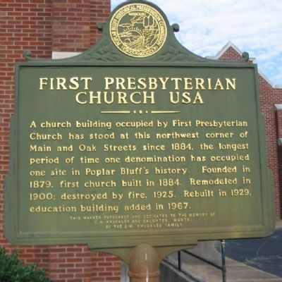 First Presbyterian Church USA Marker image. Click for full size.