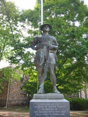 Doughboy Statue on Memorial image. Click for full size.