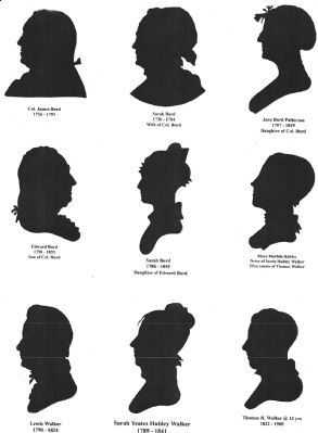 Profiles of Col James Burd and Family image. Click for full size.