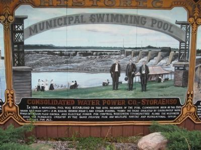 Historic Municipal Swimming Pool Marker image. Click for full size.