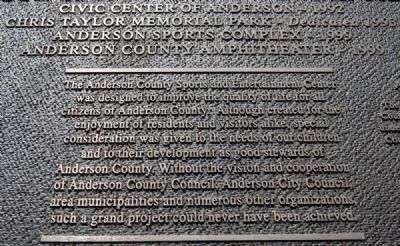 The Anderson Sports and Entertainment Complex Marker image. Click for full size.