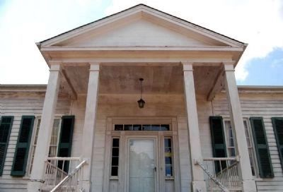 Caldwell-Johnson-Morris Cottage (ca. 1851)<br>North (Front) Portico image. Click for full size.