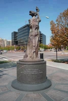 "Victims of Communism Memorial,Statue<br> ""The Goddess of Democracy"" image. Click for full size."