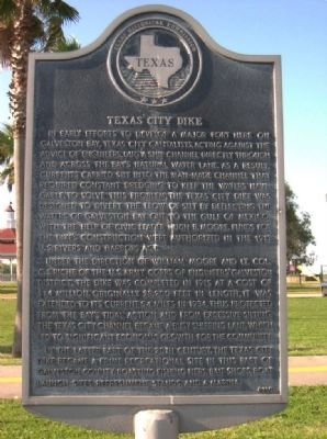 Texas City Dike Marker image. Click for full size.