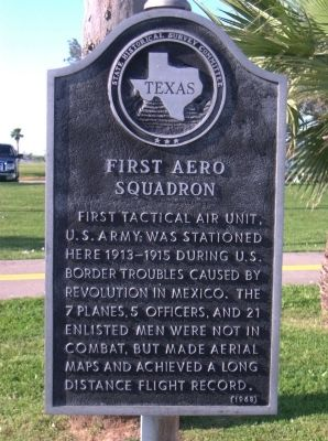 First Aero Squadron Marker image. Click for full size.