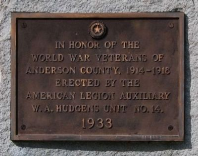 World War Veterans Marker -<br>Front image. Click for full size.