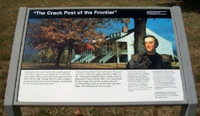 """The Crack Post of the Frontier"" Marker image. Click for full size."