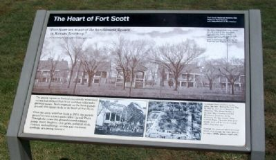 The Heart of Fort Scott Marker image. Click for full size.