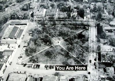 1960s Aerial Photo of Plaza on Marker image. Click for full size.