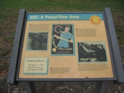 CCC - A Peace-Time Army Marker image. Click for full size.