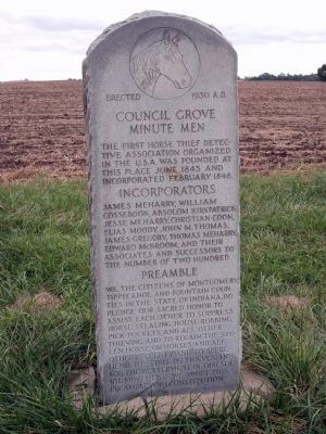 Full View - - Council Grove Minute Men Marker image. Click for full size.