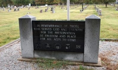 Romney Veterans Memorial Marker image. Click for full size.