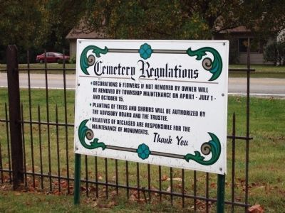 Elmwood Cemetery - - Regulations image. Click for full size.