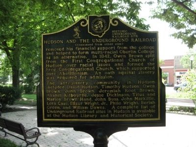 Hudson and the Underground Railroad Marker - Side B image. Click for full size.