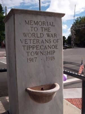 South Side - - World War I Veterans Memorial Marker image. Click for full size.