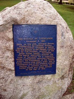 The Battle of Tippecanoe Marker image. Click for full size.