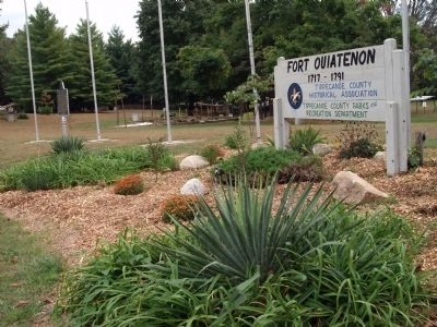 Sign - - Fort Ouiatenon image. Click for full size.