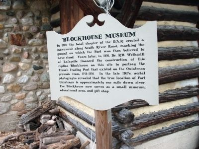 "Sign - - ""Blockhouse Museum"" image. Click for full size."
