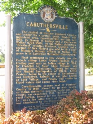 Caruthersville Marker image. Click for full size.