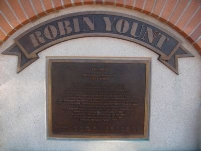 Robin Yount Marker image. Click for full size.