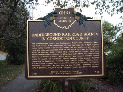 Underground Railroad Agents in Coshocton County image. Click for full size.