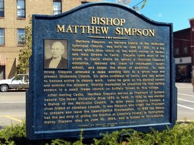 Bishop Matthew Simpson Marker image. Click for full size.