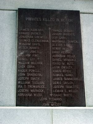 Panel Two - - Tippecanoe Battlefield Memorial Marker image. Click for full size.