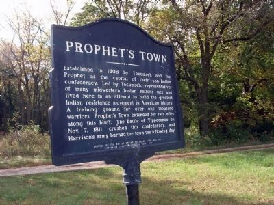 Looking South/East - - Prophet's Town Marker image. Click for full size.
