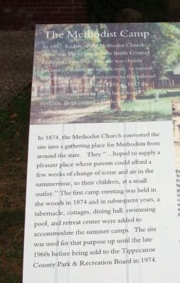 Left Section - - The Methodist Camp Marker image. Click for full size.