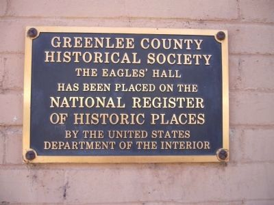 The Eagles' Hall Marker image. Click for full size.