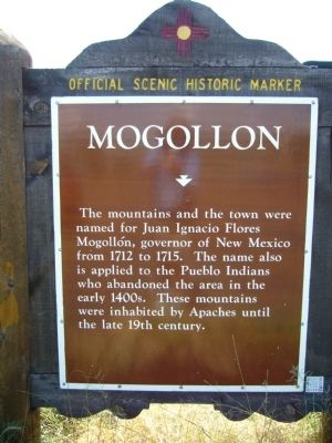 Mogollon Marker image. Click for full size.