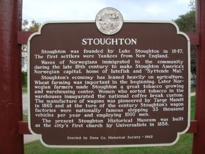 Stoughton Marker image. Click for full size.