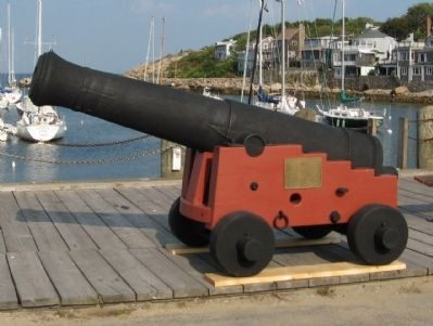 Cannon from the U.S.S. Constitution Overlooking Rockport Harbor image. Click for full size.