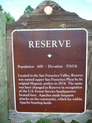 Reserve Marker image. Click for full size.