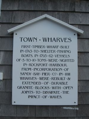 Town Wharves Marker image. Click for full size.