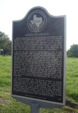 Angel of Goliad Marker image. Click for full size.