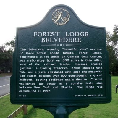 Forest Lodge Marker image. Click for full size.
