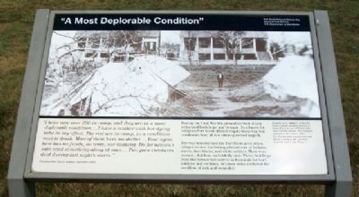 """A Most Deplorable Condition"" Marker image. Click for full size."