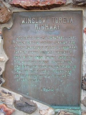Winslow – Toreva Highway Marker image. Click for full size.