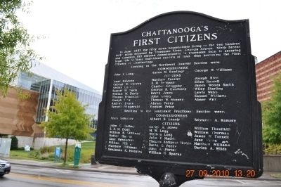 Chattanooga's First Citizens Marker image. Click for full size.