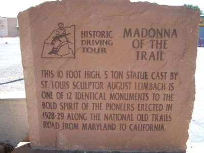 Madonna of the Trail Marker image. Click for full size.