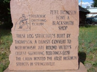 Peter Thompson Home & Blacksmith Shop Marker image. Click for full size.