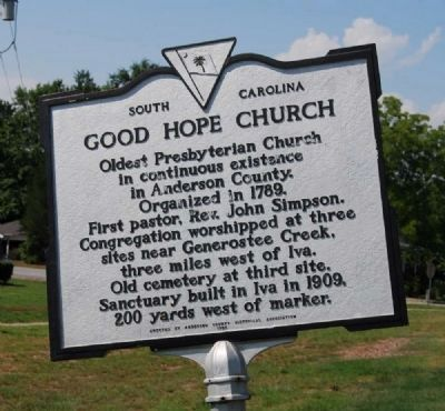 Good Hope Church Marker image. Click for full size.