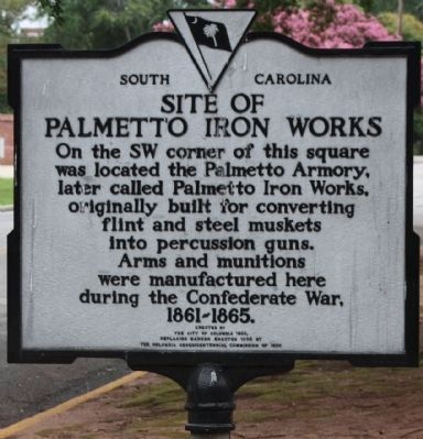Site of Palmetto Iron Works Marker image. Click for full size.