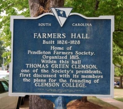 Farmers Hall Marker image. Click for full size.